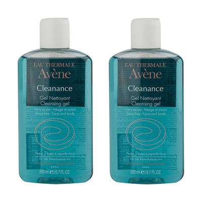 Avene Cleanance Gel Nettoyante 2x200 ml